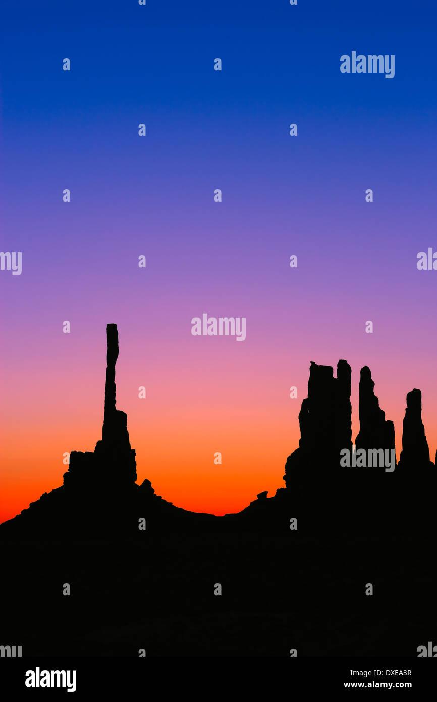 Sunrise Monument Valley at the border of Arizona and Utah, USA - Stock Image