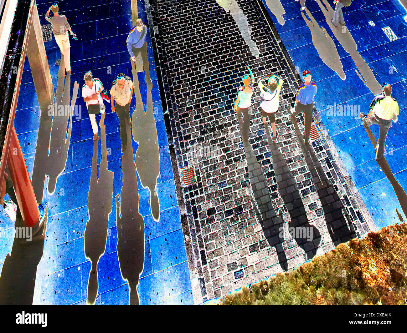 Abstract art, City of Shadows - Stock Image