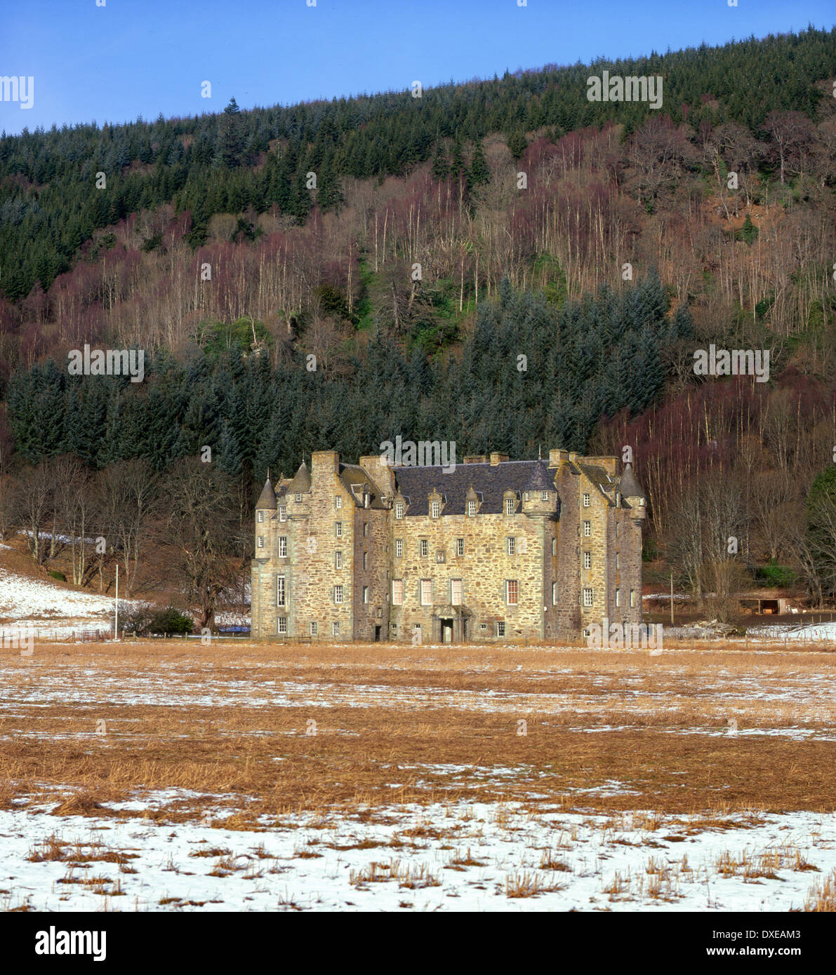 Castle Menzies, a 16th century castle in Weem near Aberfeldy, Perthshire.Clan Menzies. - Stock Image