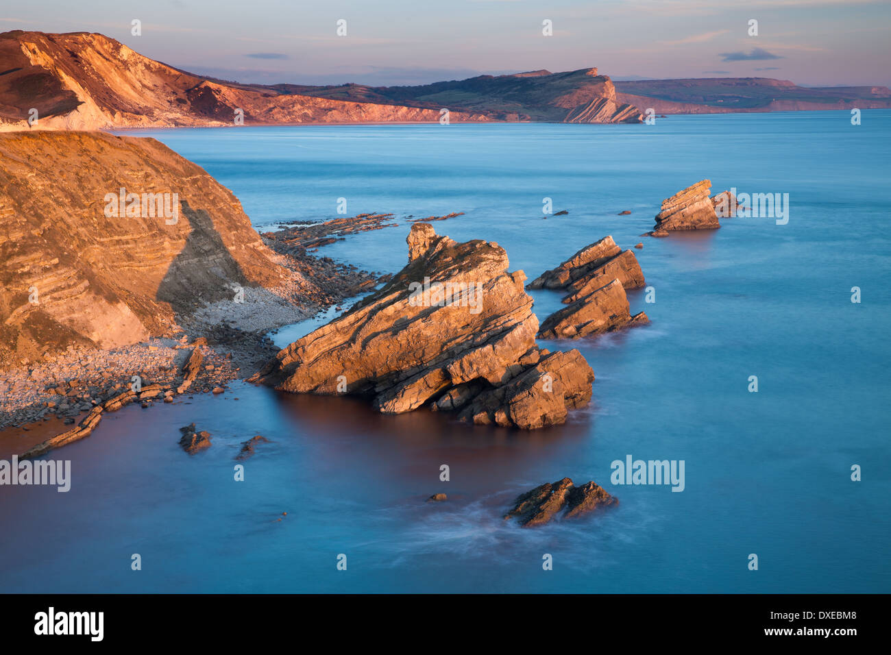 Mupe Bay, Jurassic Coast, Dorset, England, UK - Stock Image