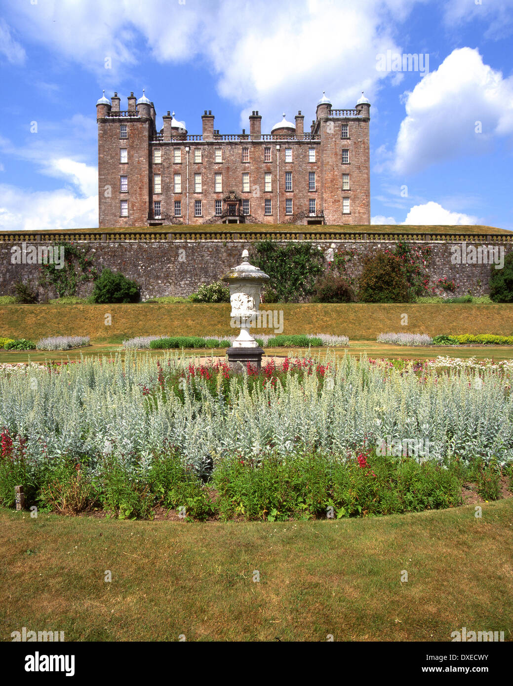 Drumlanrig Castle or Pink Palace, a renaissance country house nr Thornhill, 17th century.Dumfries-shire. - Stock Image