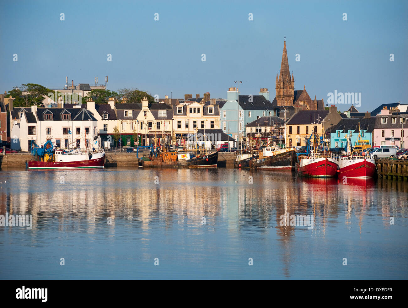 Stornoway harbour, Isle of Lewis, Outer Hebrides - Stock Image