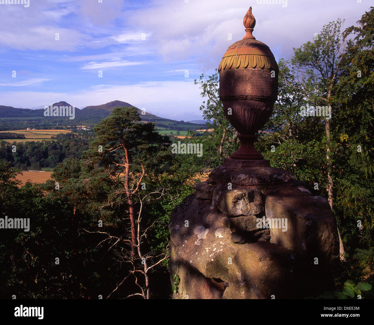 Wallace monument, Eildon hills, Scottish Borders. - Stock Image