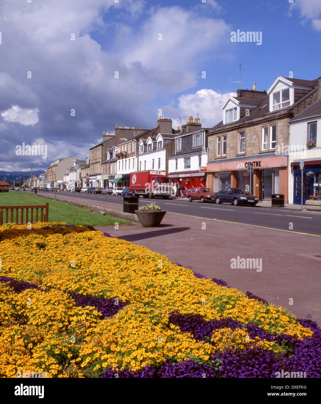 helenburgh main street and esplanade,firth of clyde - Stock Image