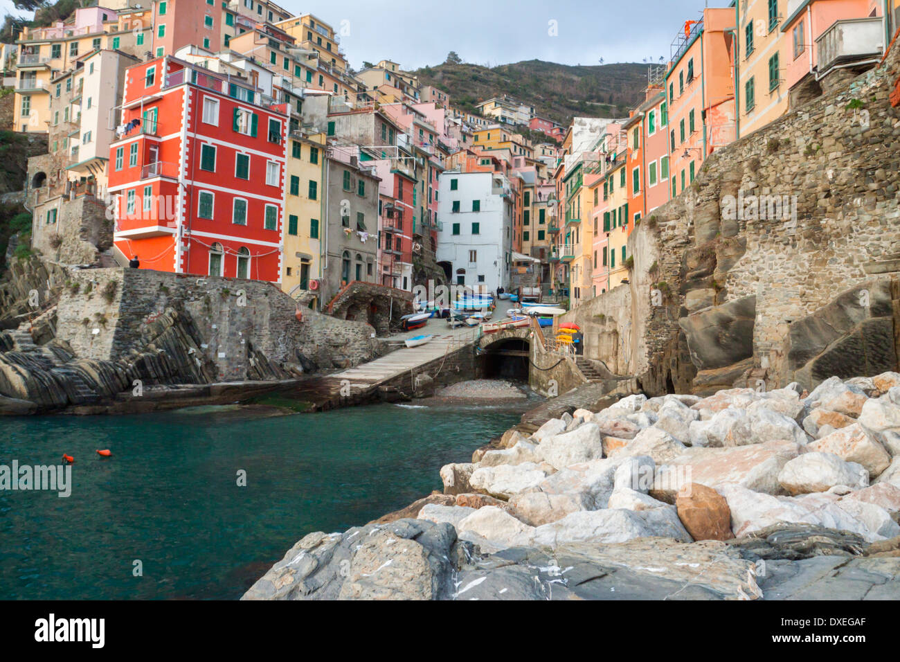 Characteristic Harbour on ligurian coast named five lands ...