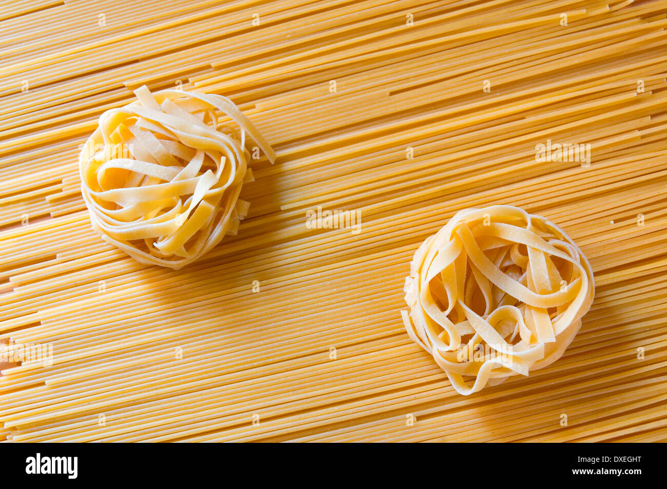 Pasta composition - Stock Image