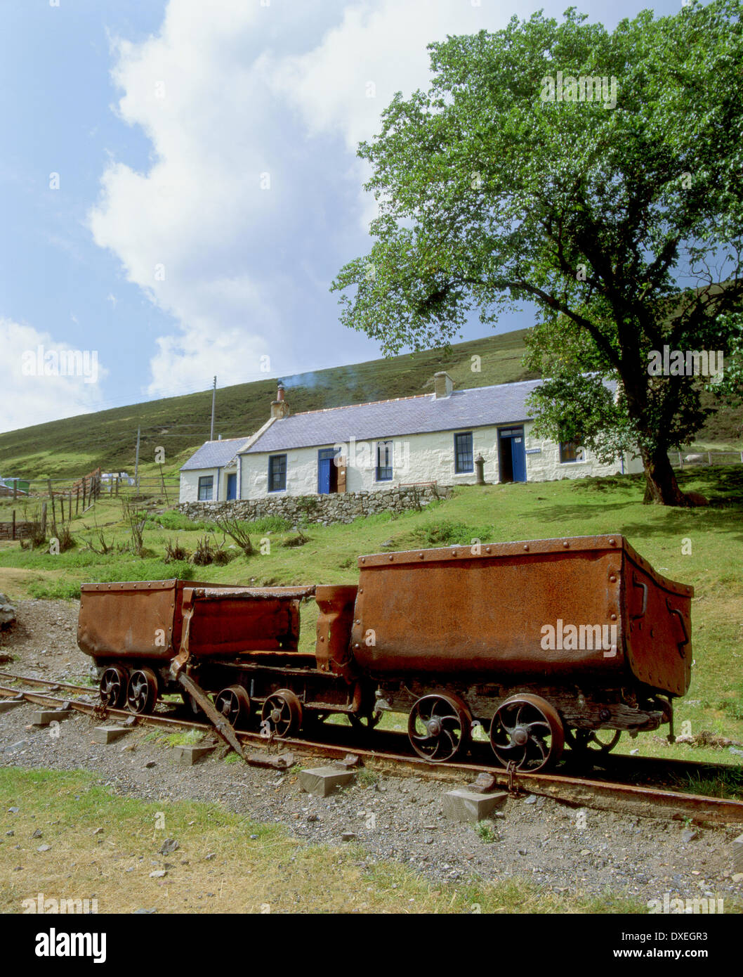 Lead mine museum at Wanlockhead in the lowther hills,dumfrieshire.leadhills. - Stock Image