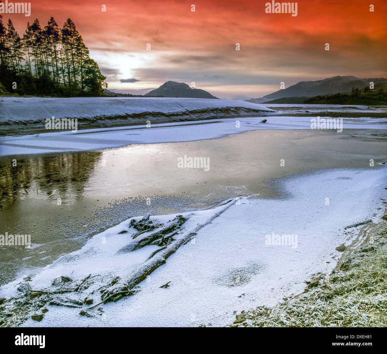 Loch Laggan, Glen Spean, Badenoch, Highlands - Stock Image