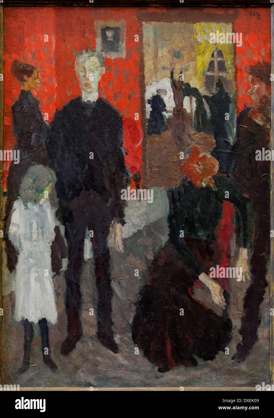 Max Beckmann - Small Death Scene - 1909 - XX th century - German school - Alte Nationalgalerie - Berlin - Stock Image