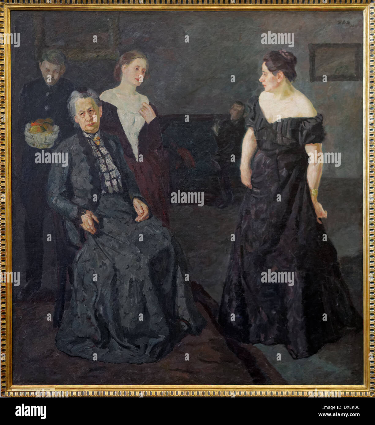 Max Beckmann - Conversation - 1908 - XX th century - German school - Alte Nationalgalerie - Berlin - Stock Image
