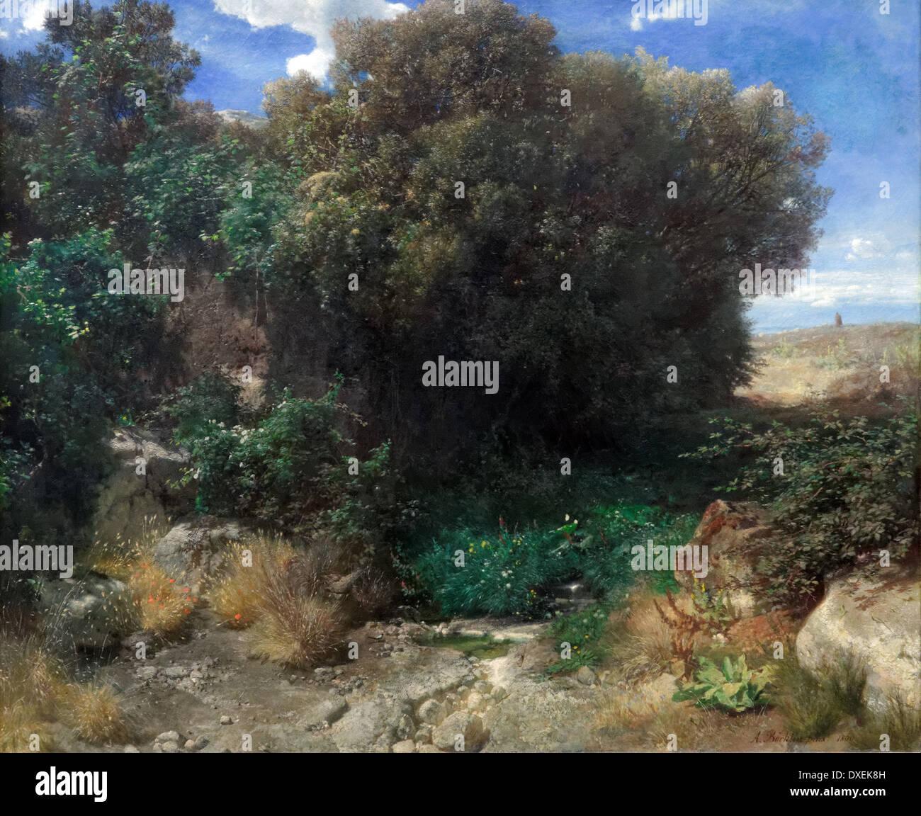 Arnold Bocklin - Campagna Landscape - 1859 - XIX th century - German school - Alte Nationalgalerie - Berlin - Stock Image