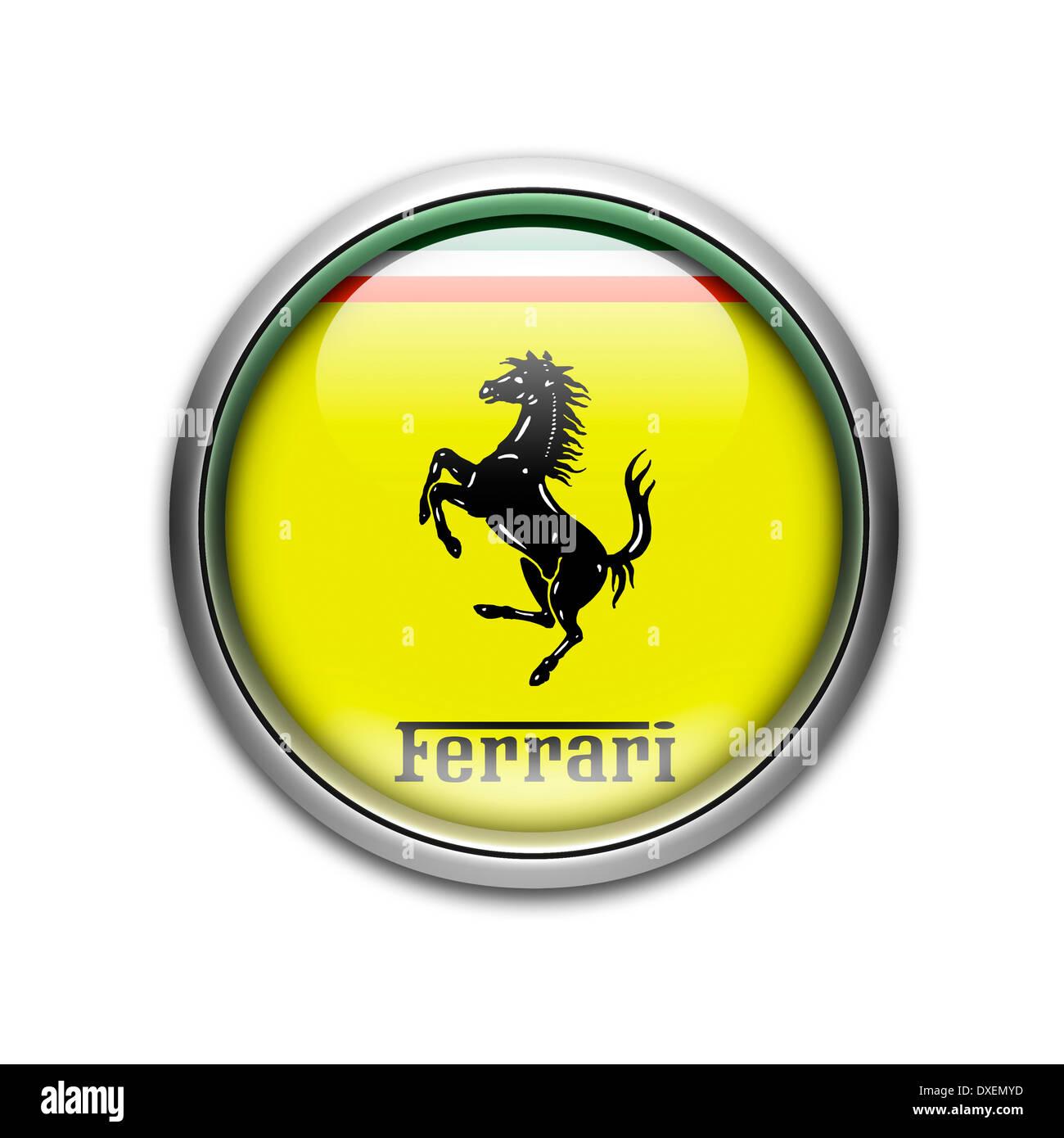 Ferrari Logo Flag Symbol Icon Emblem Stock Photo Alamy