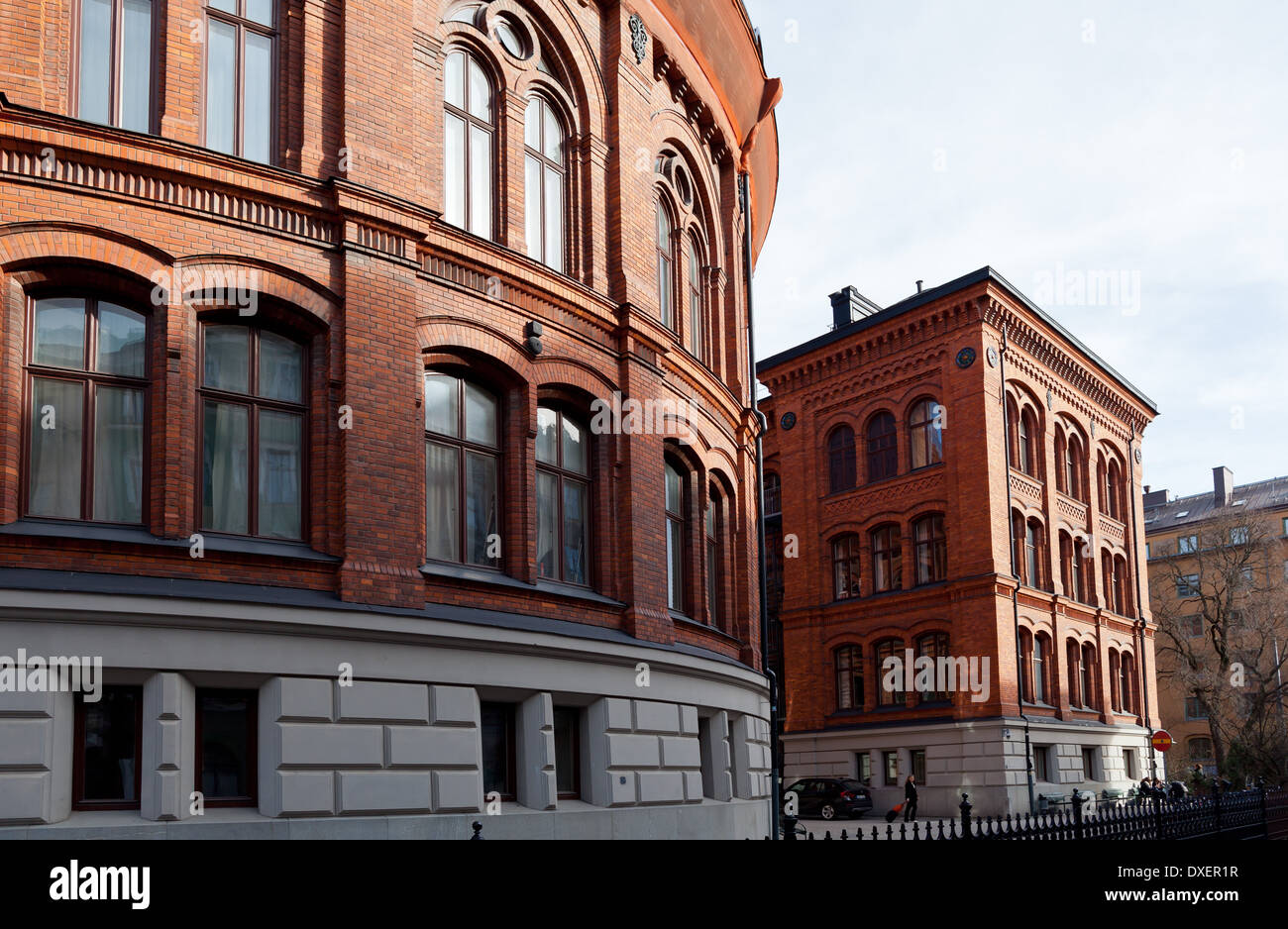 Stockholm, Sweden - Norra Real ('Northern Real') upper-secondary school building, Vasastaden - Stock Image