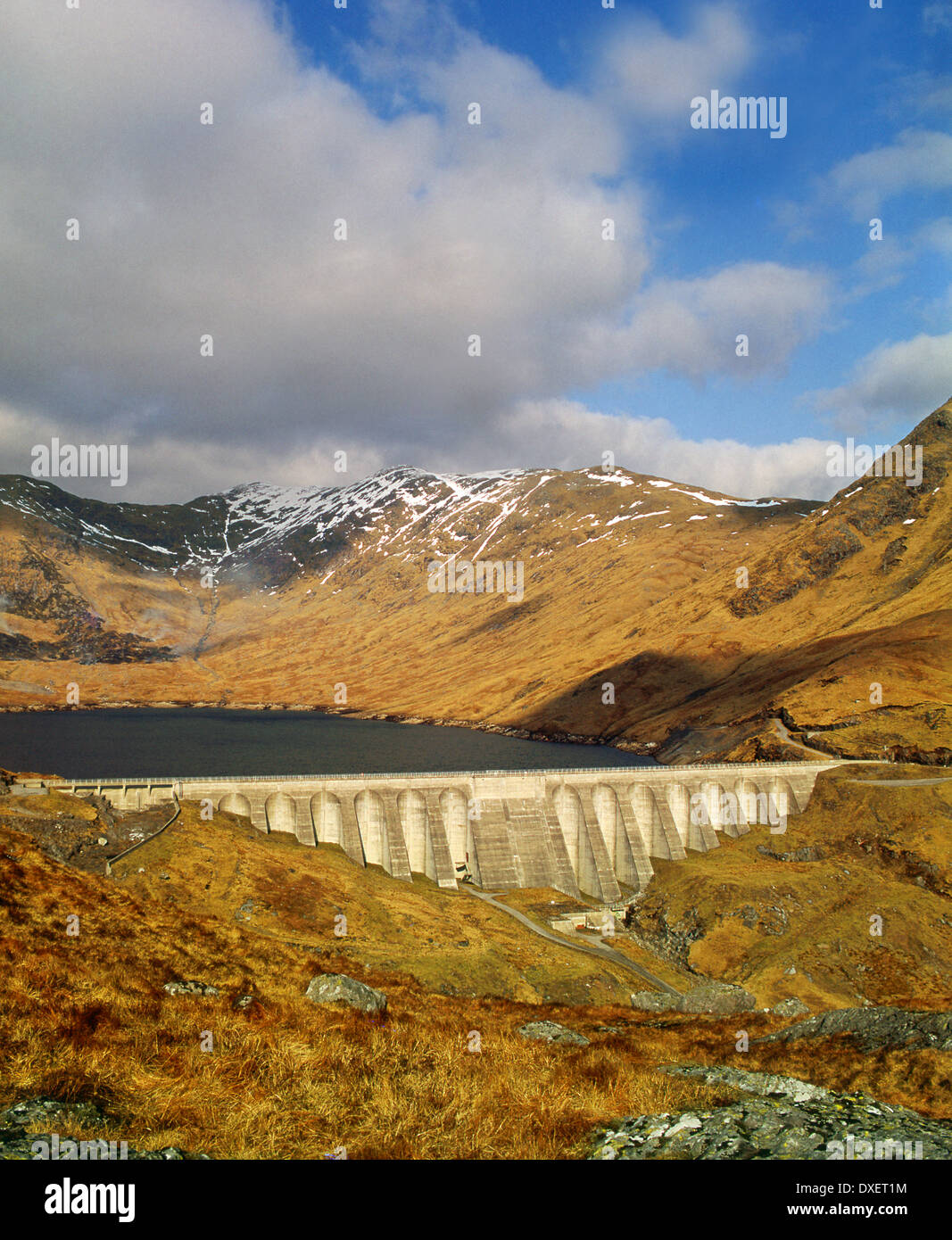 The hydro electric dam situated on Ben Cruachan,Argyllshire. - Stock Image