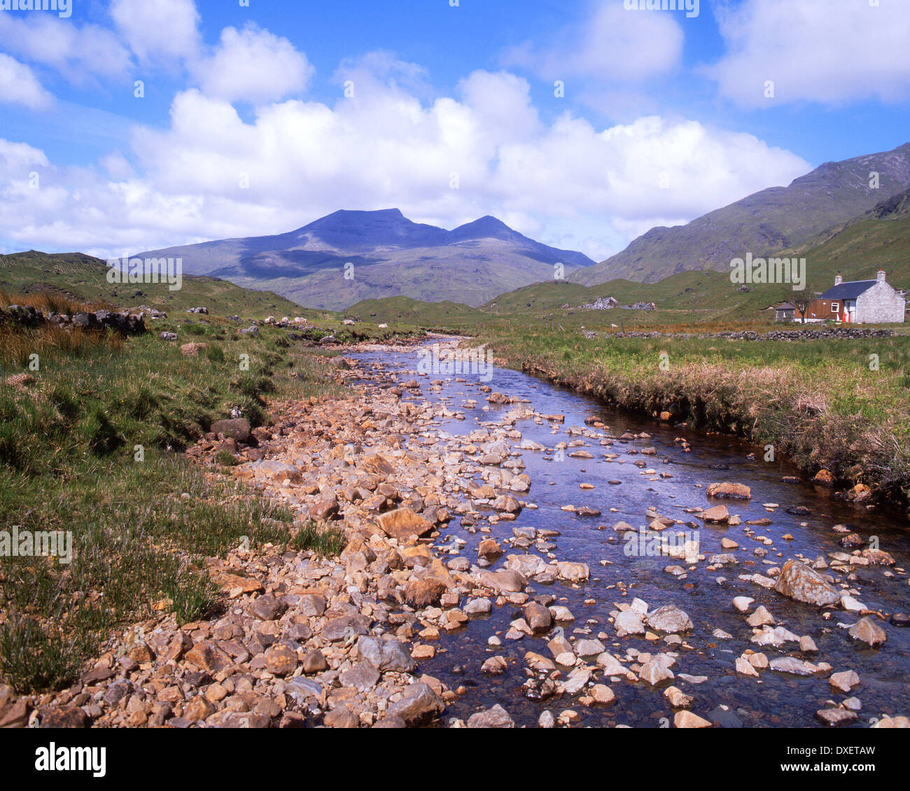 Summer in Ben More from Glen More, Isle of Mull, Argyll Stock Photo