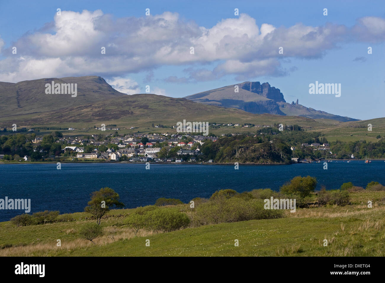 Towards Portree and Storr, Isle of Skye - Stock Image
