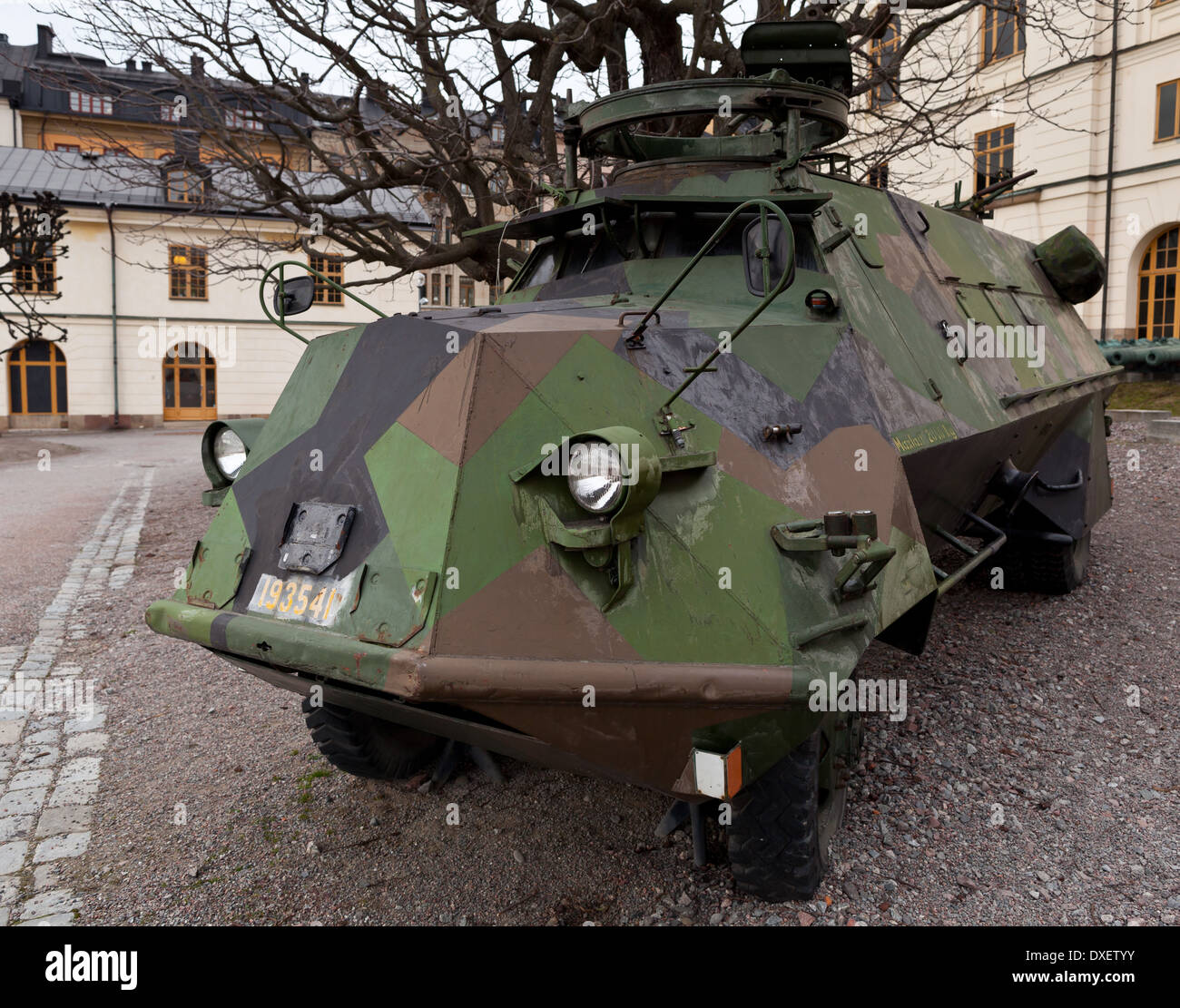 Stockholm, Sweden - KP-bil (KP transport vehicle) at the Armémuseum (army museum) Östermalm - Stock Image