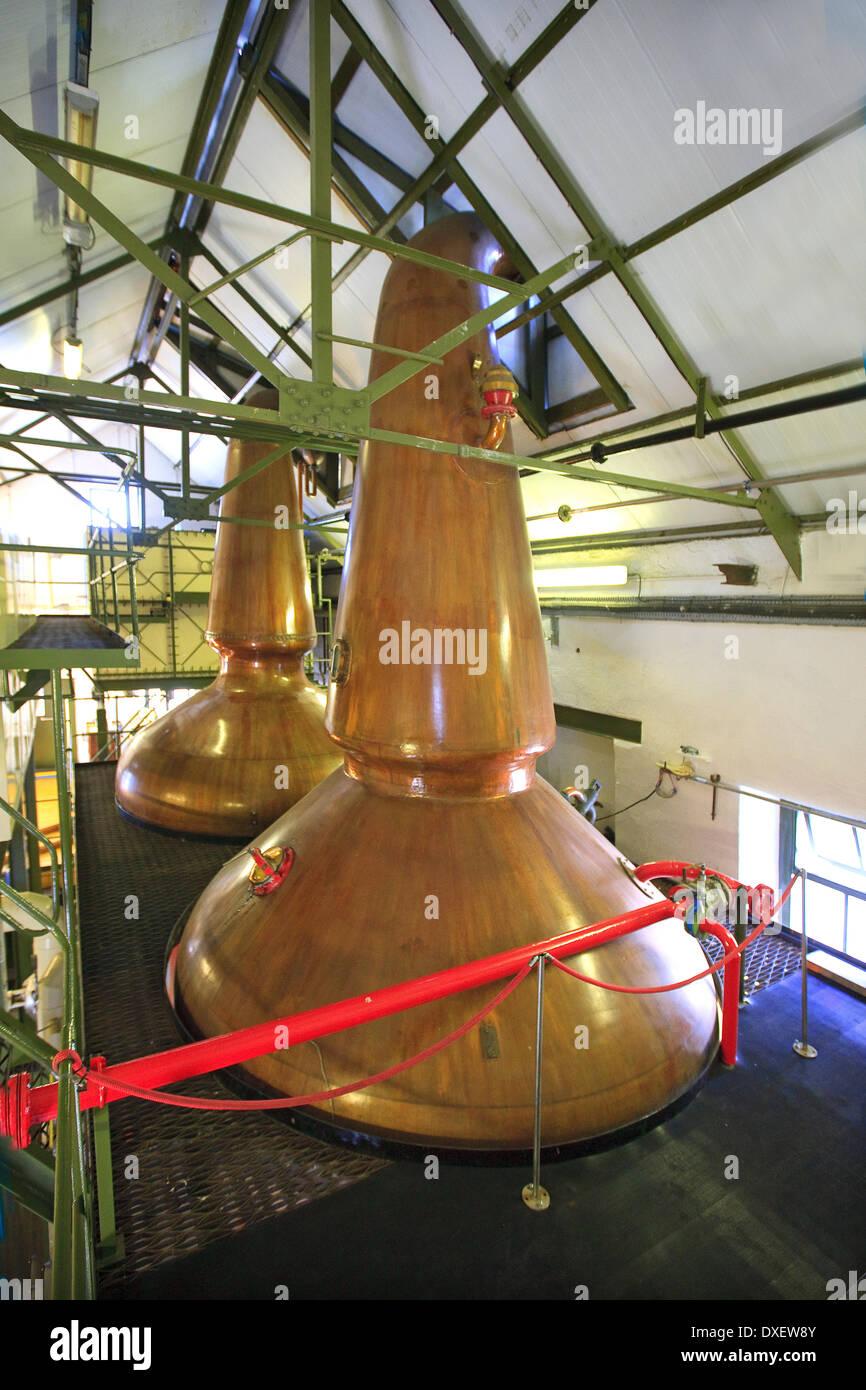 Stills, Ardbeg Distillery, Islay - Stock Image
