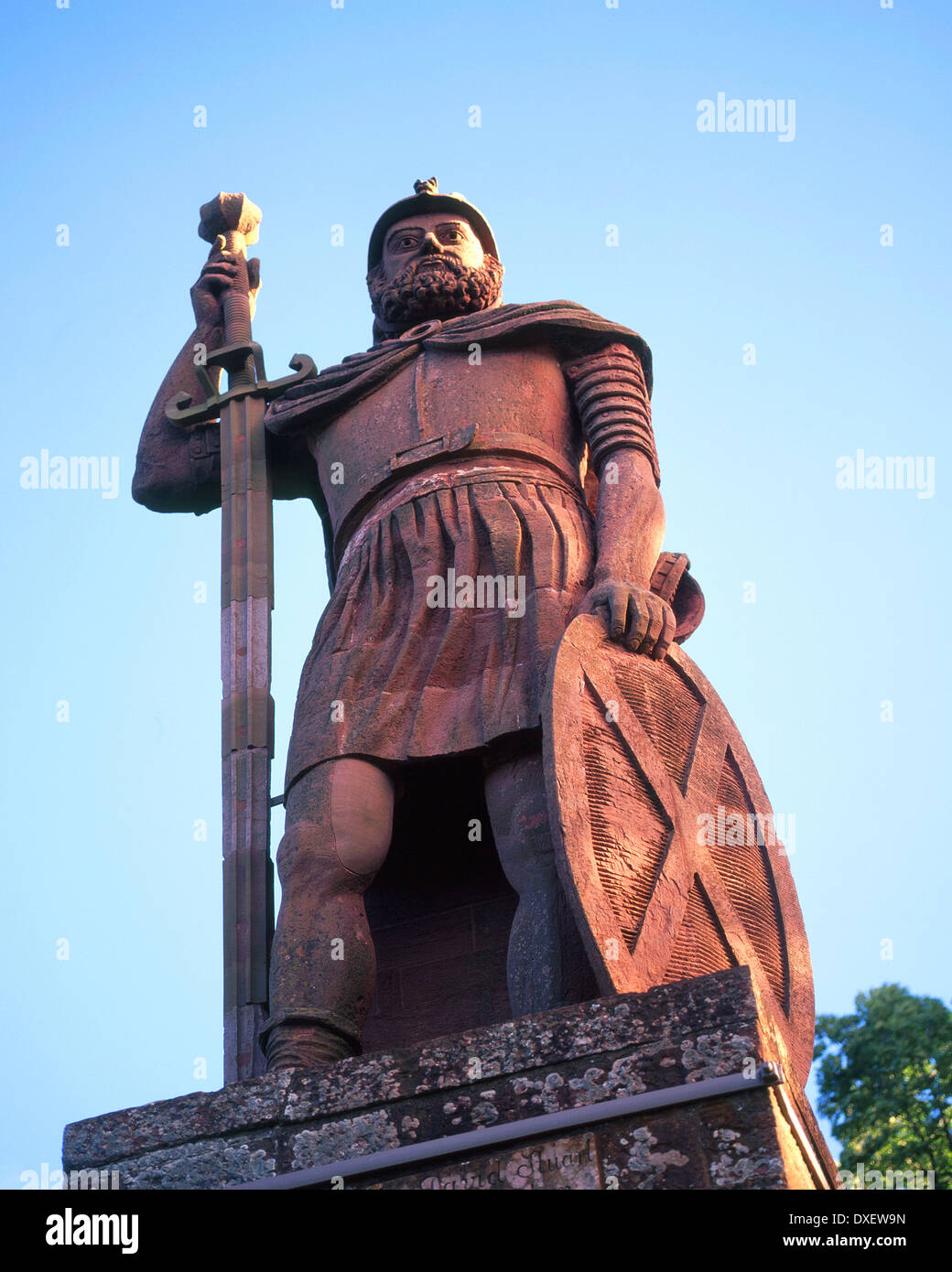 William Wallace Statue - Scottish Borders - Stock Image