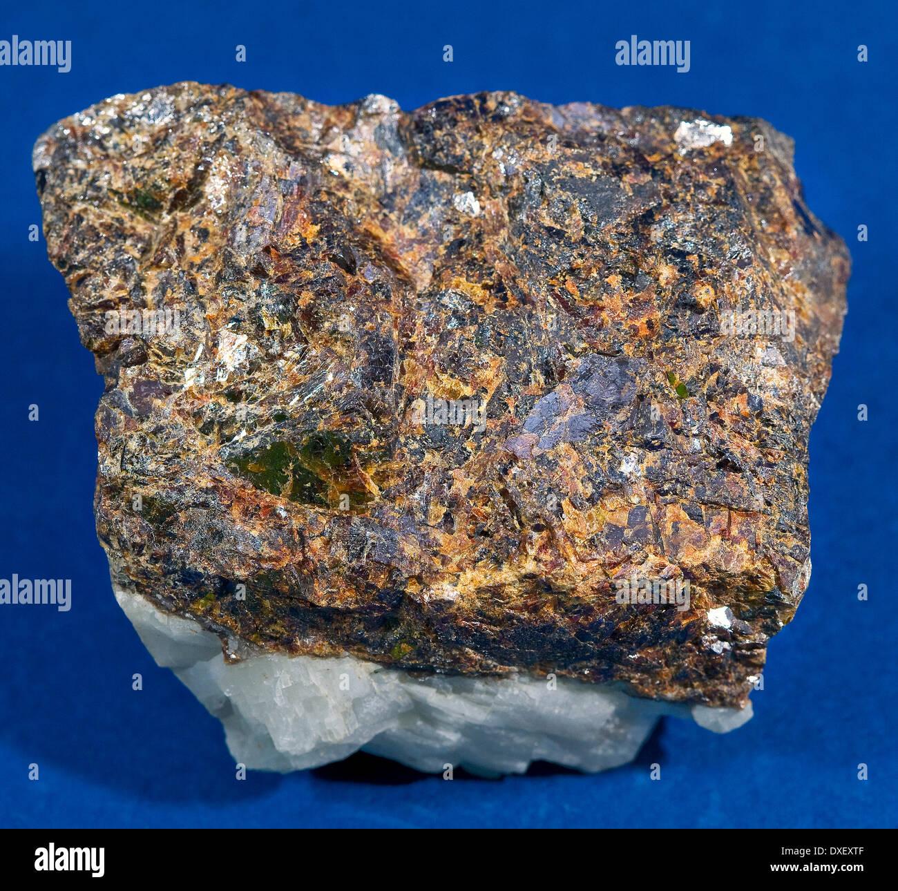 specimen of sphalerite or zinc blende found in north wales. - Stock Image