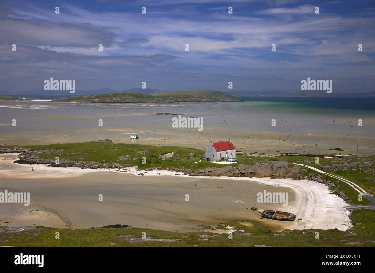 Crannog Traigh Mhor, Isle of Barra, Outer Hebrides. - Stock Image