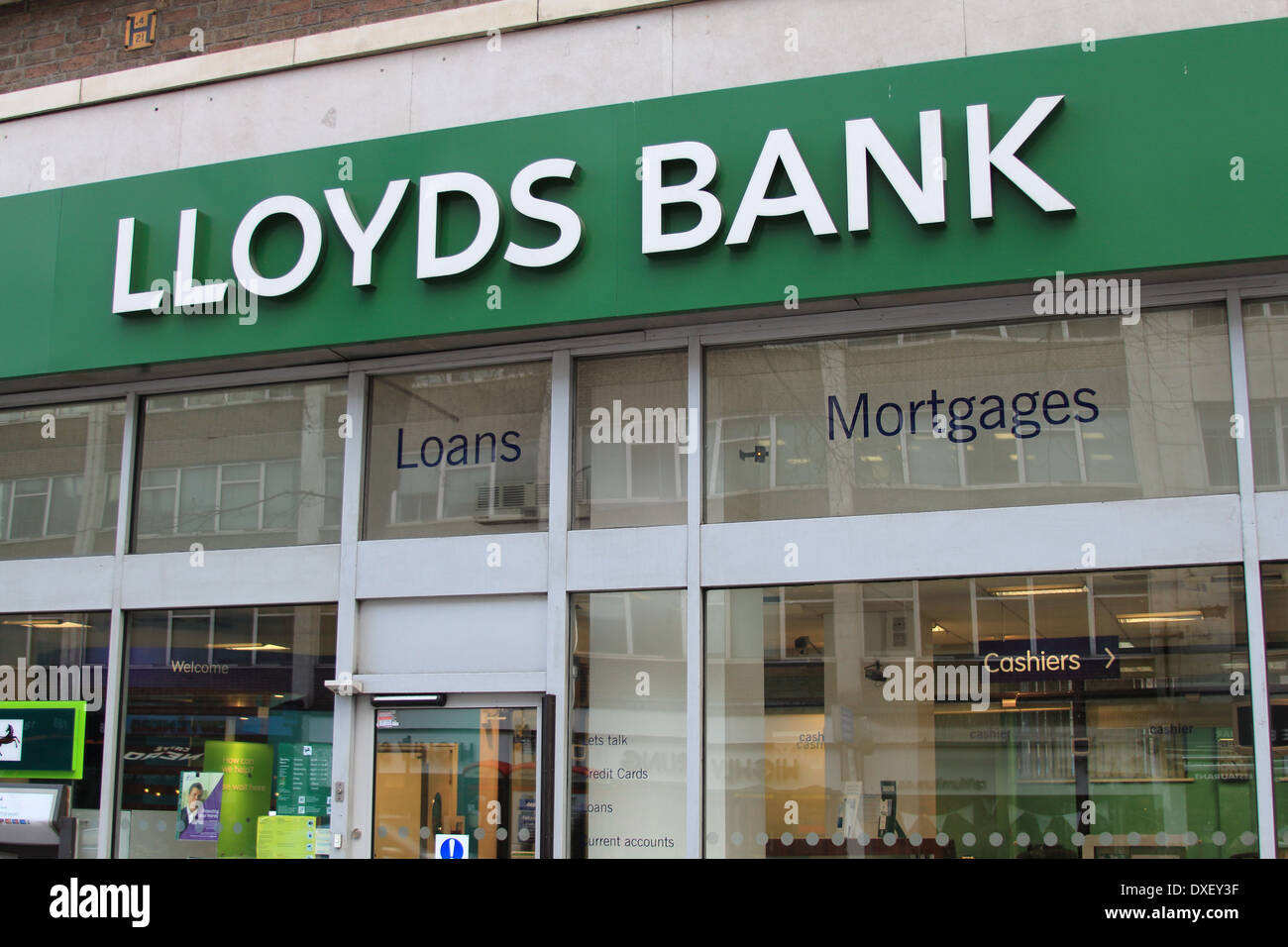 Branch of Lloyds Bank on Tottenham Court Road, London, UK - Stock Image