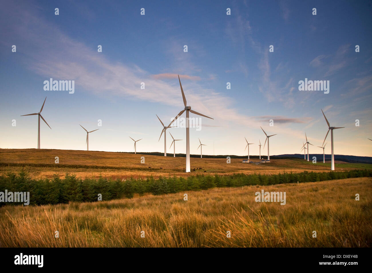 Wind turbines at Tangy, Mull of Kintyre. - Stock Image