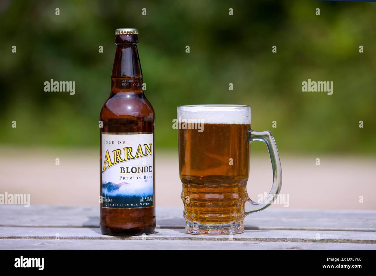 Isle of Arran brewery latest premium beer - Stock Image
