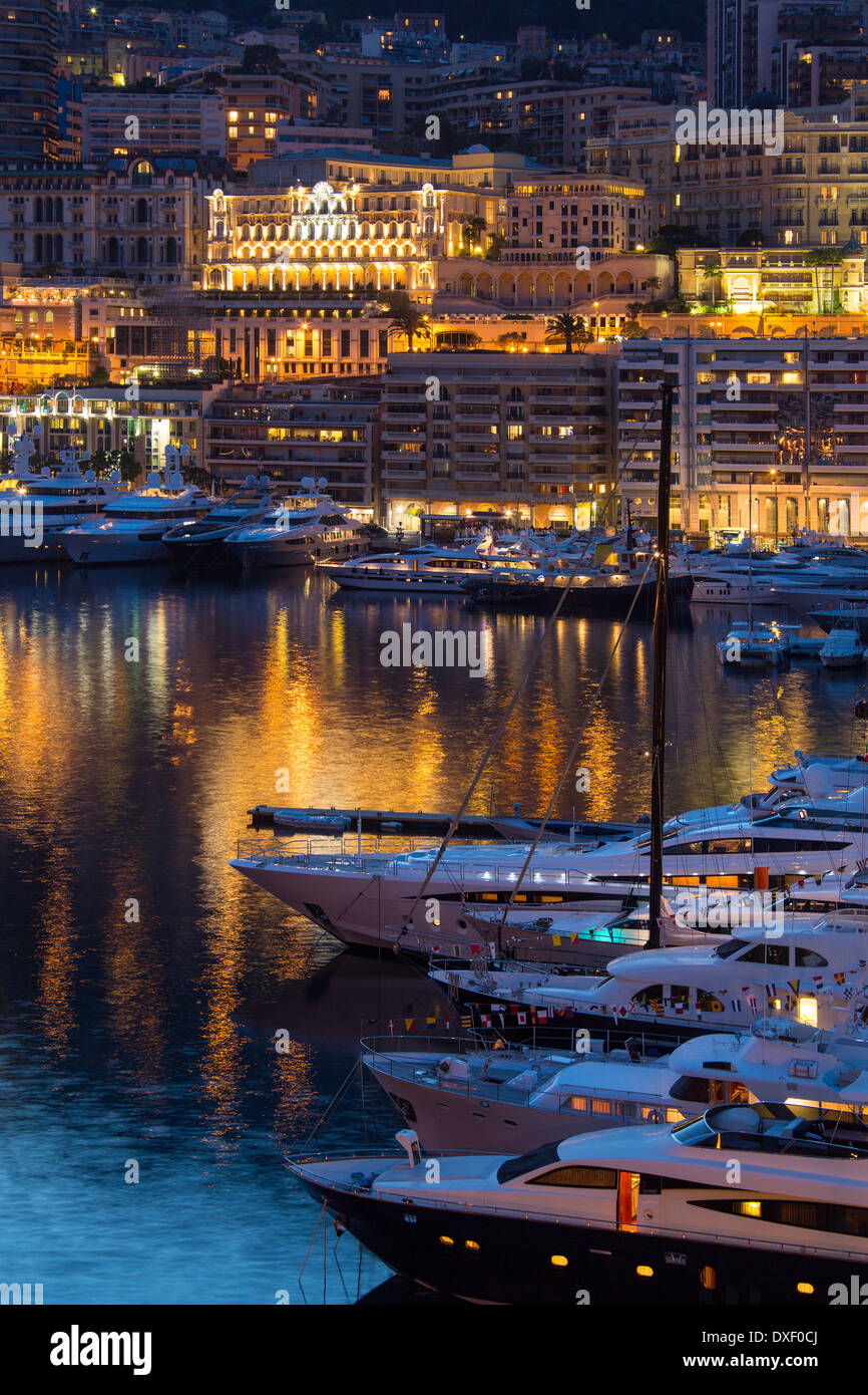 The Port of Monaco in the Principality of Monaco, a sovereign city state, located on the French Riviera. - Stock Image