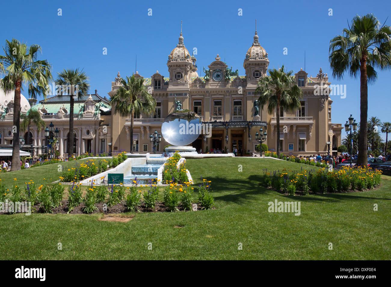 The famous Monte Carlo Casino in Monaco. - Stock Image