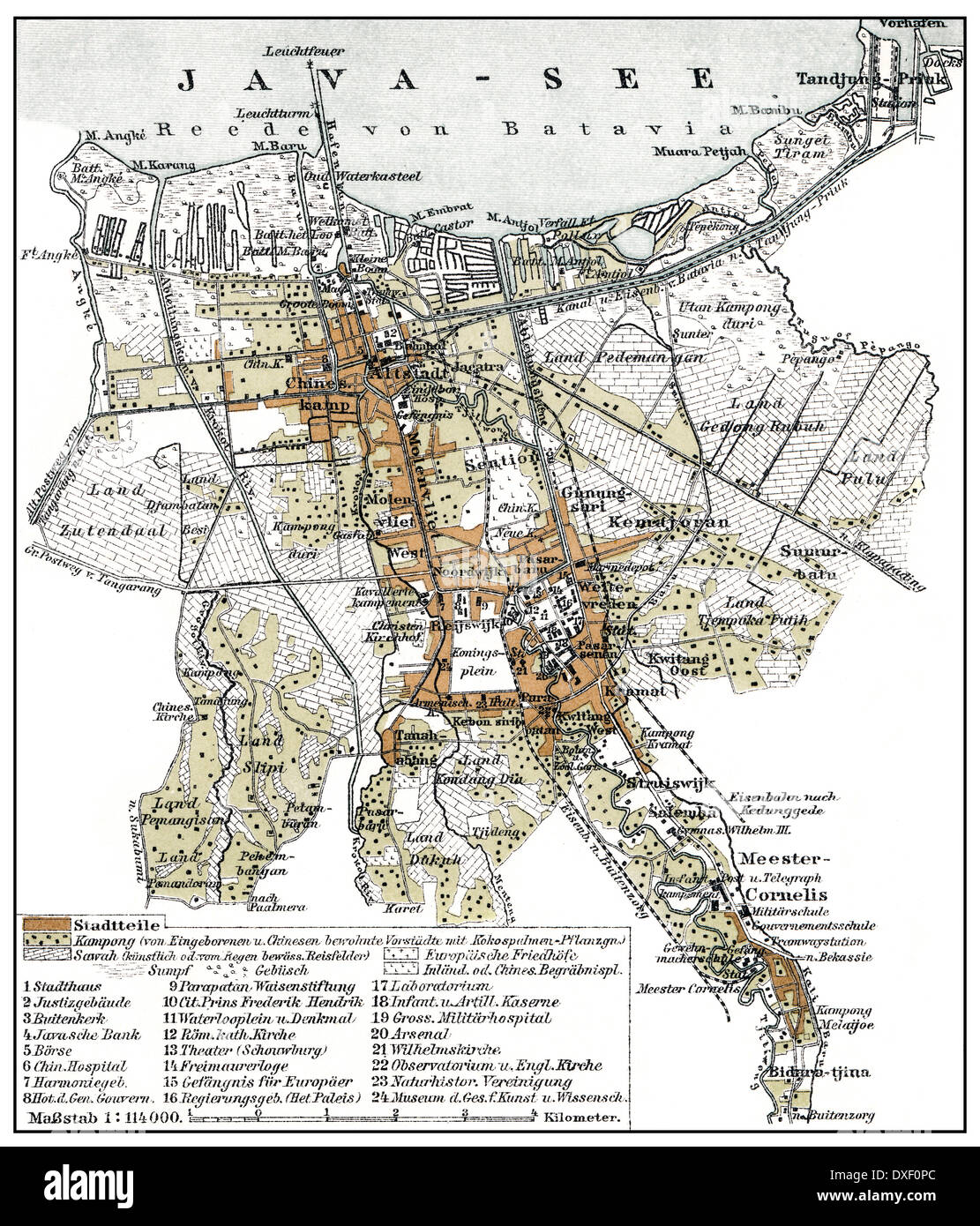 Historical map 1894 batavia dutch east indies now jakarta stock historical map 1894 batavia dutch east indies now jakarta indonesia southeast asia gumiabroncs Image collections