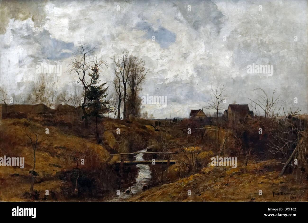 Paul Baum - After the Rain - 1883 - XIX th century - German school - Alte Nationalgalerie - Berlin - Stock Image