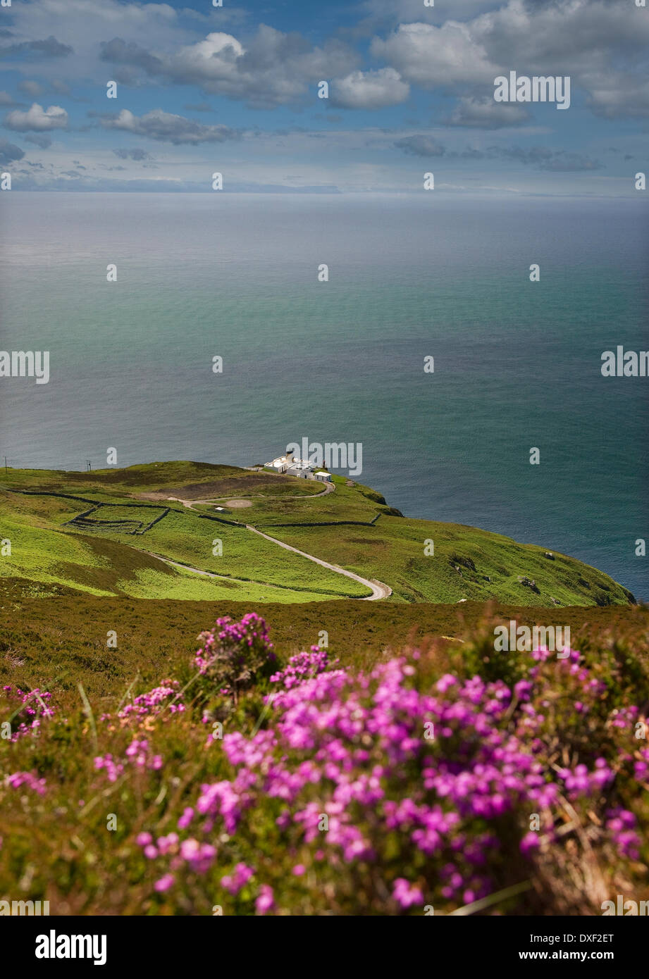 View looking down onto the Mull of Kintyre lighthouse,mull of kintyre,Argyll Stock Photo