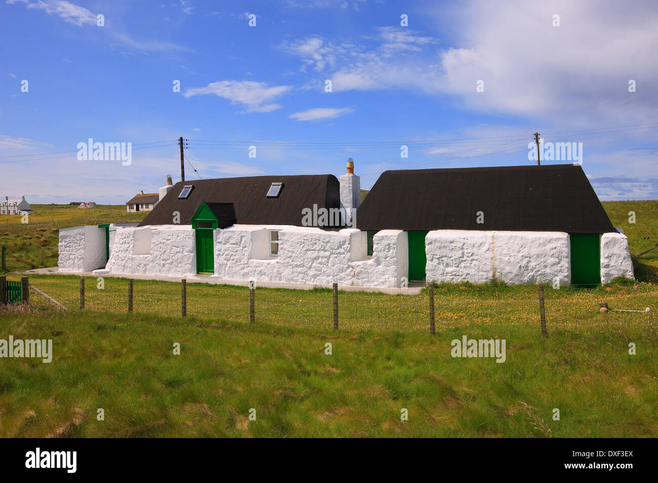 Preserved crofts on the island of Tiree,inner hebrides, - Stock Image