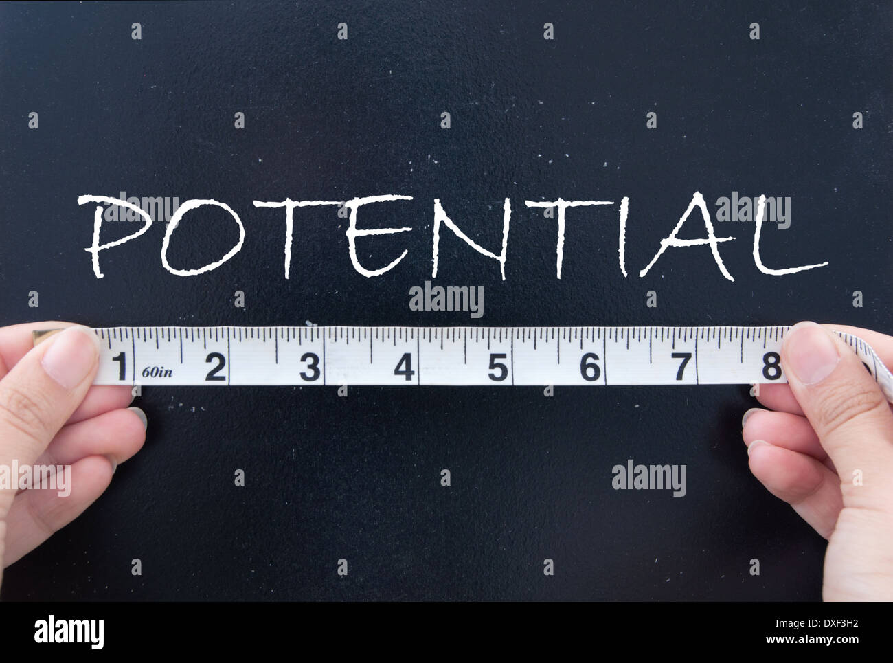 Measuring potential - Stock Image