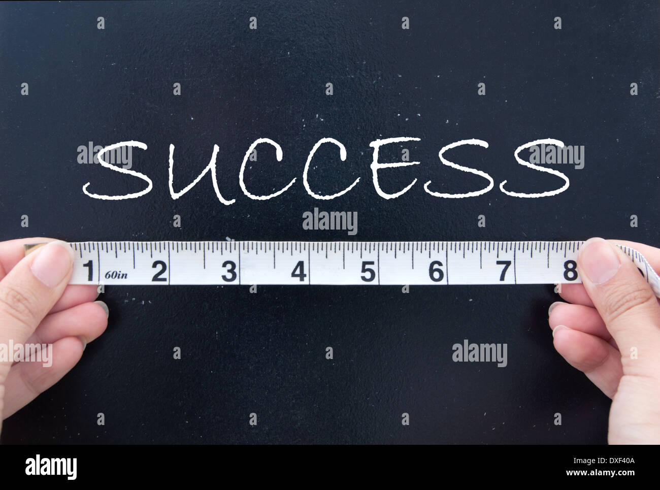 Measuring success - Stock Image