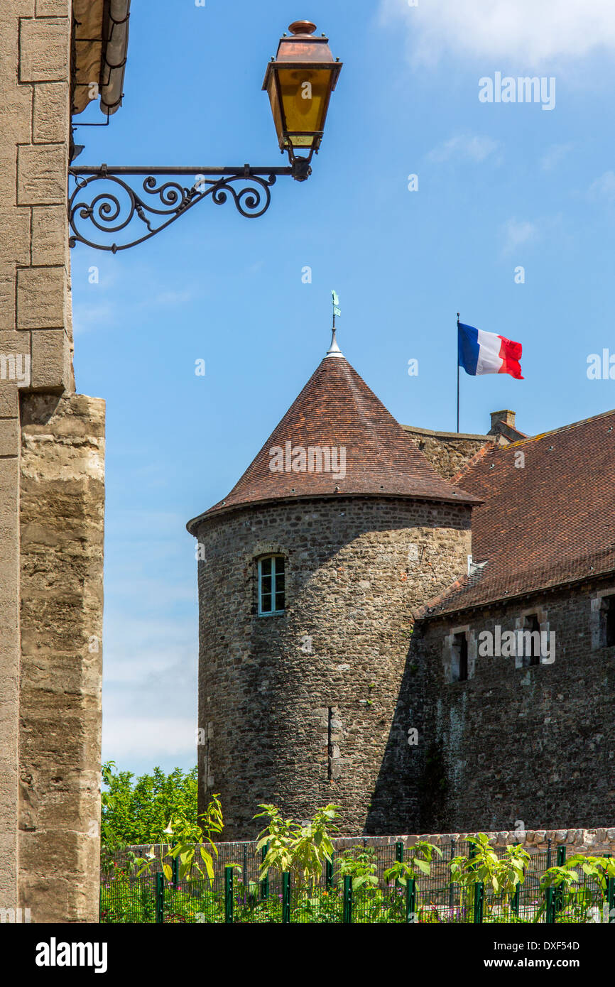 Chateau Boulogne in Boulogne-sur-Mer in the Nord Pas-de-Calais region of France. - Stock Image