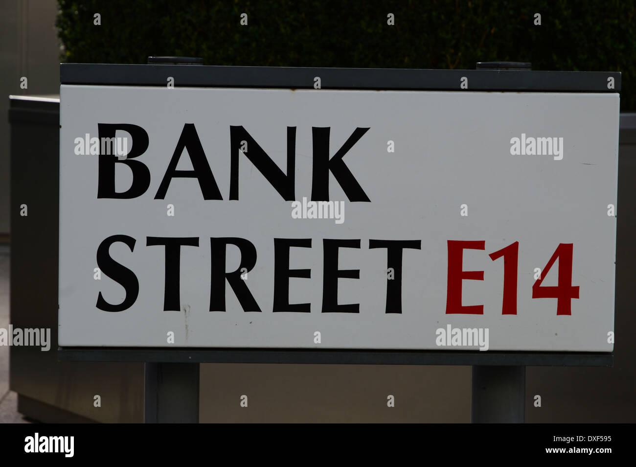 Bank Street - Stock Image