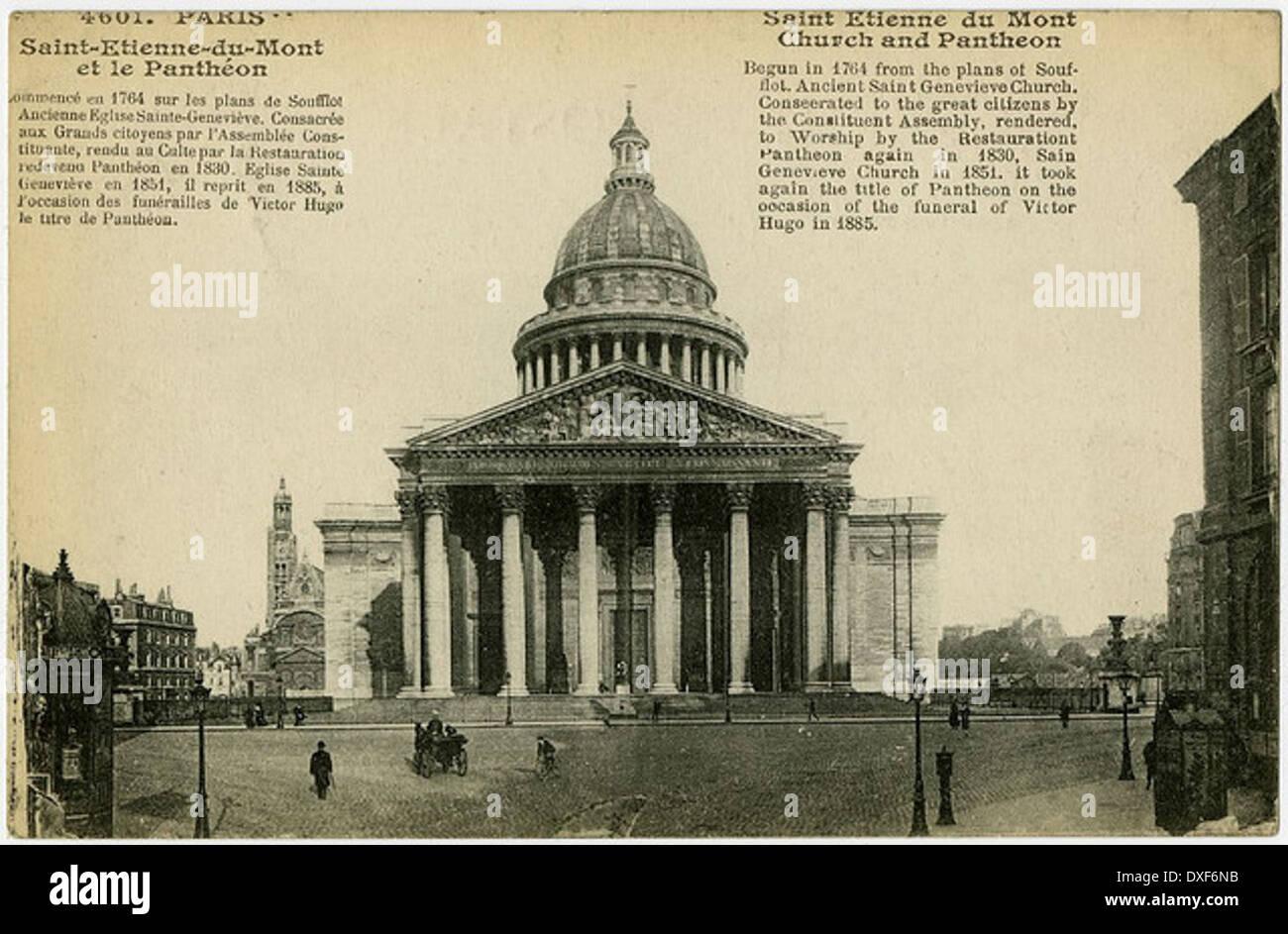 001 Saint Etienne du Mont Church and Pantheon - Stock Image
