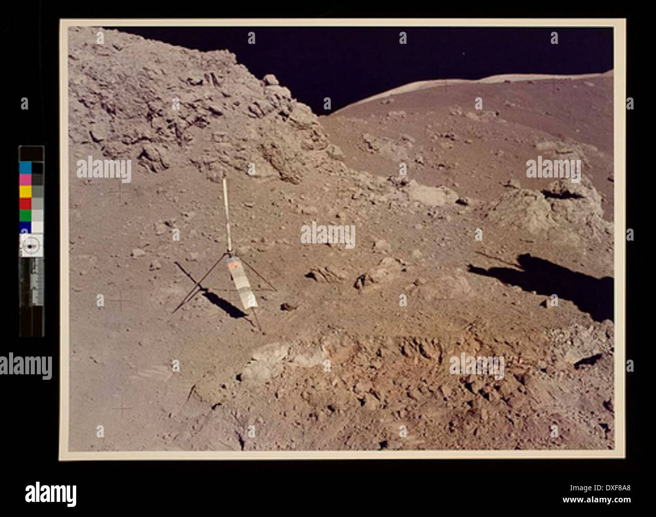 Apollo 17 onboard photo of area near the Valley of Tourus-Littrow on the lunar surface - Stock Image