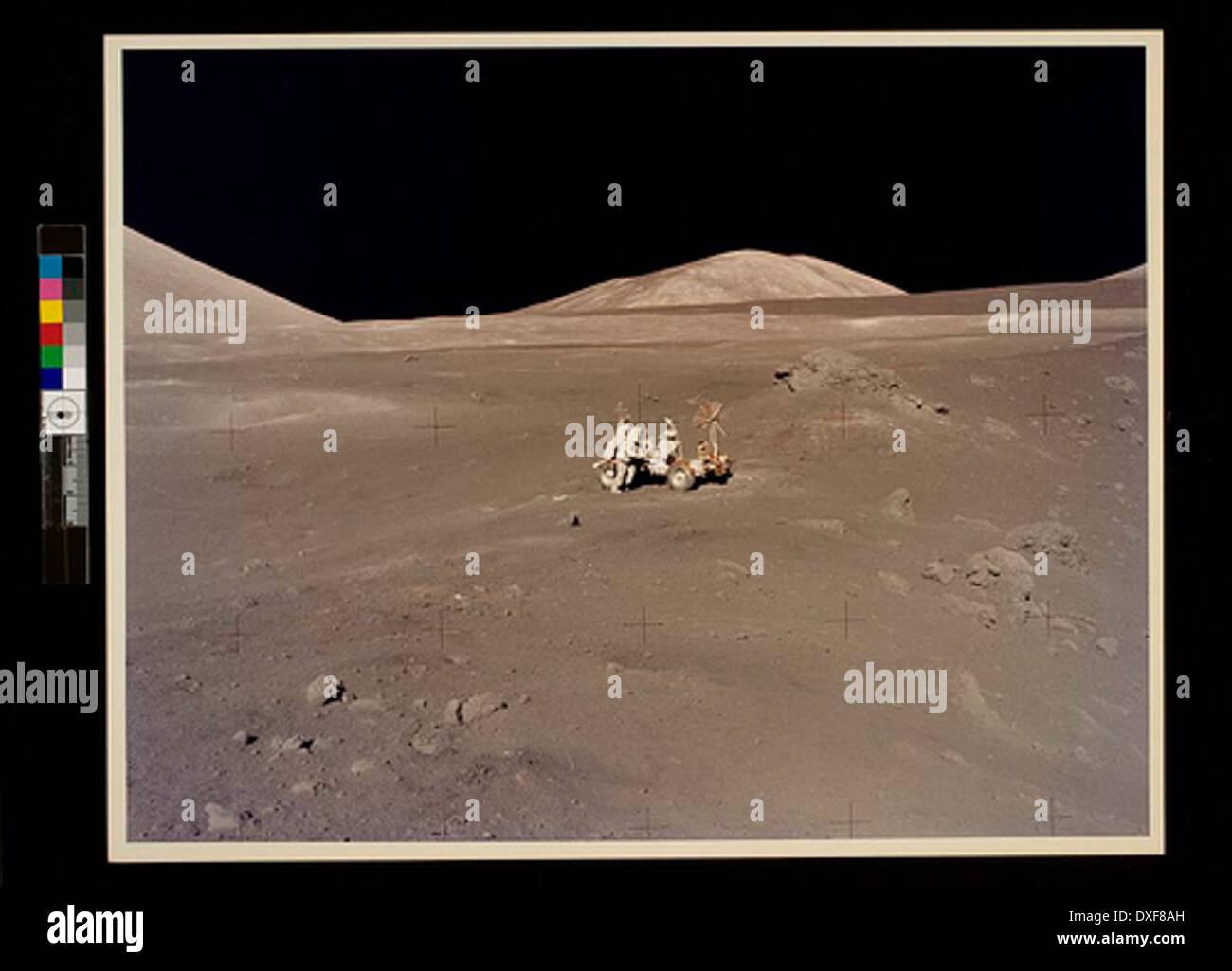 Apollo 17 Lunarscape A Magnificent Desolation - Stock Image