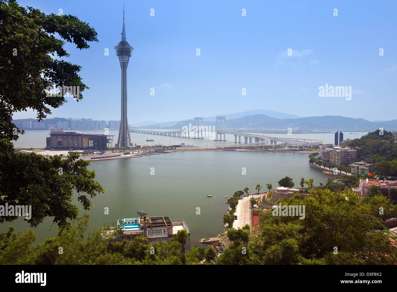 Macau on the western side of the Pearl River Delta. - Stock Image