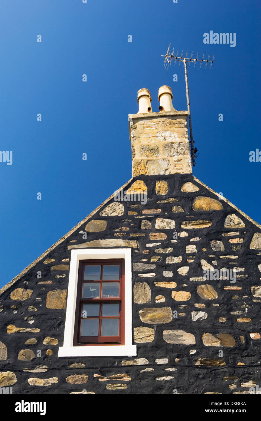 House in the village of Sandend, near Portsoy, Aberdeenshire, Scotland, UK. - Stock Image