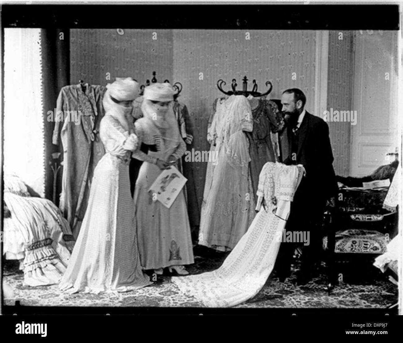 Egypte Dames de harem chez le couturier - Stock Image