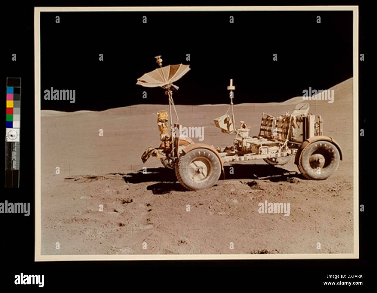 Lunar Roving Vehicle (LRV) during the Apollo 15 mission, July, 1971 - Stock Image