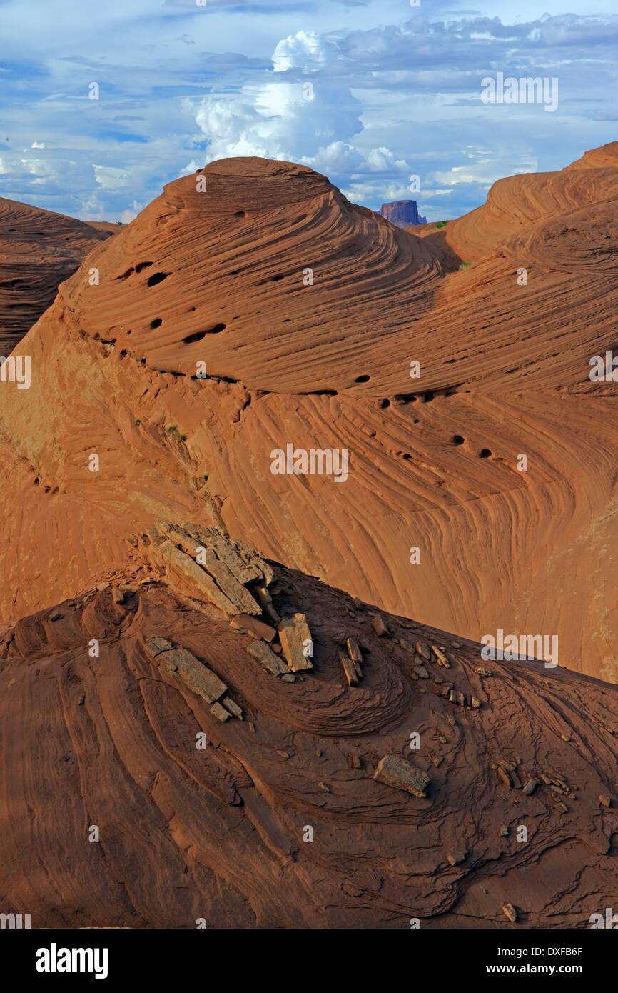 Sandstone formations, Mystery Valley, Arizona, USA - Stock Image