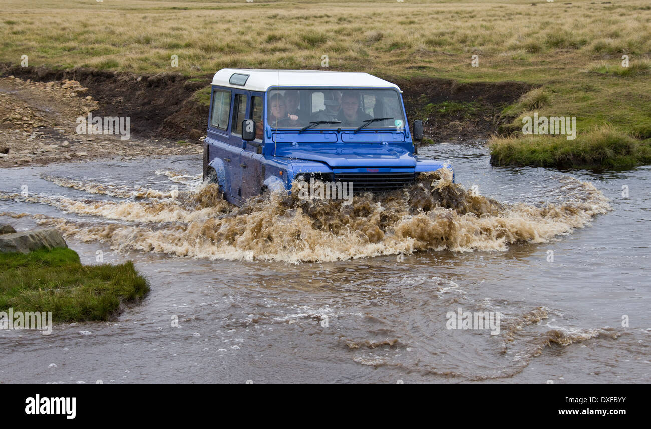 Driving on a remote road in the Falkland Islands (Islas Malvinas). - Stock Image