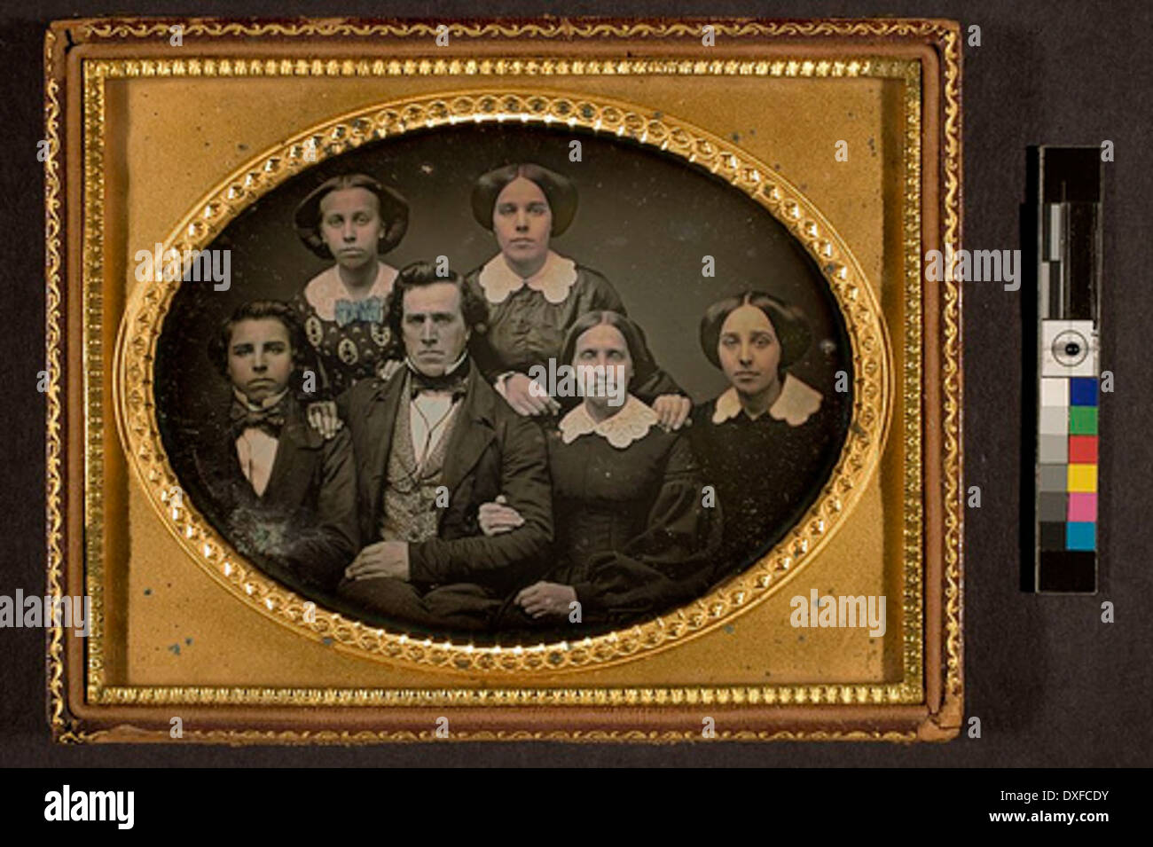 Portrait of unidentified family Portrait of unidentified family - Stock Image