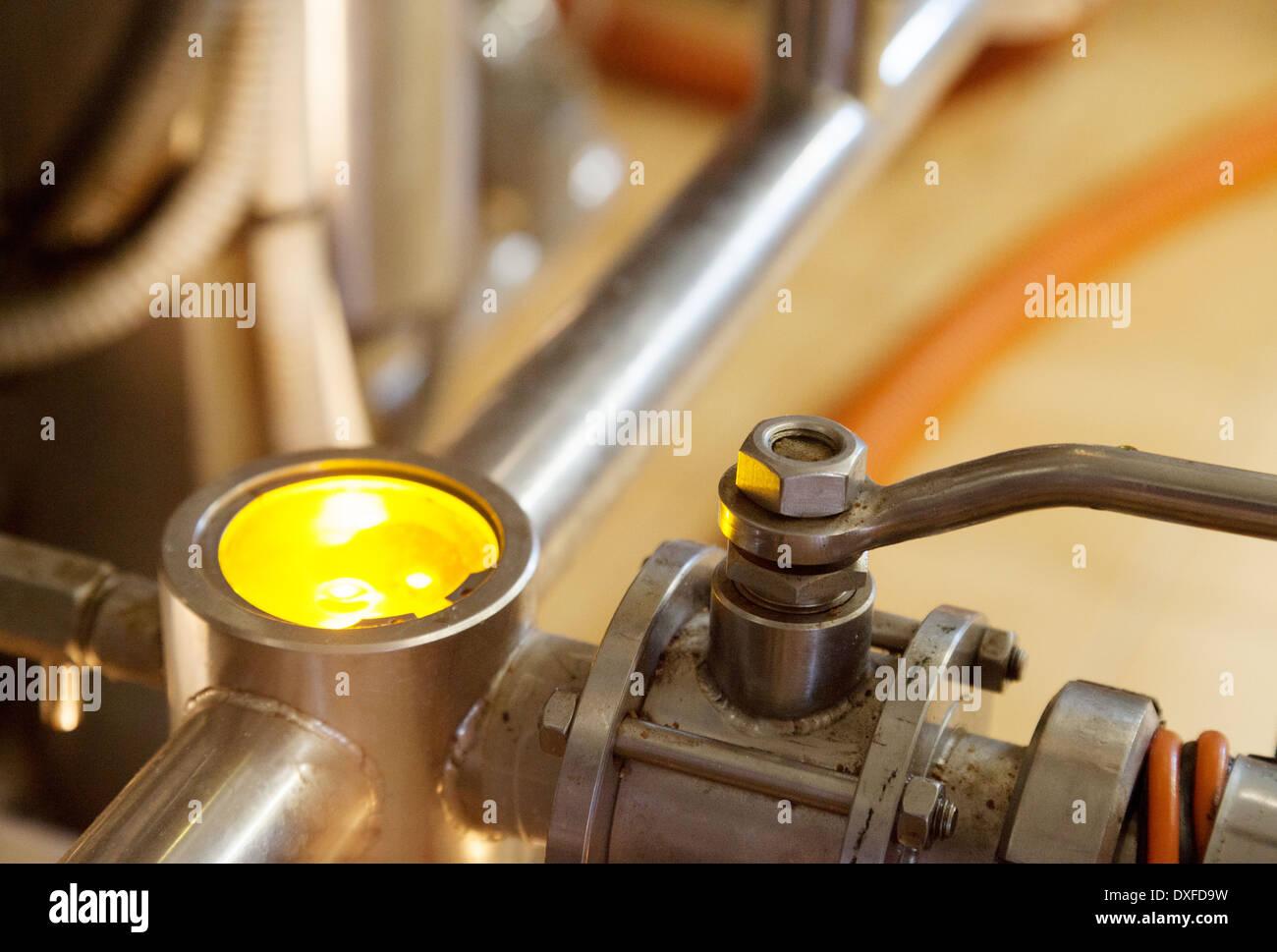 Factory machines machinery close up - Stock Image