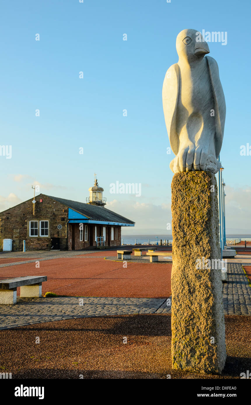 The Stone Jetty Morecambe Lancashire is the centrepiece of the award-winning Tern public art Project - Stock Image